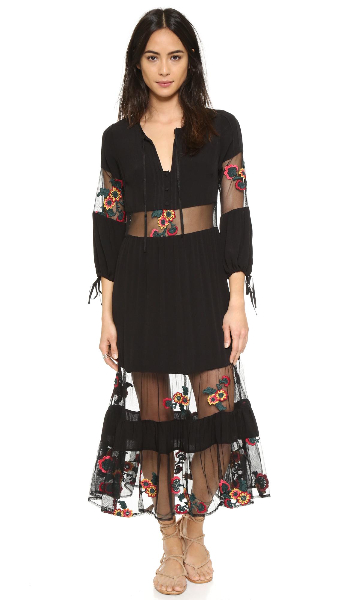 lyst for love lemons eva midi dress in black. Black Bedroom Furniture Sets. Home Design Ideas