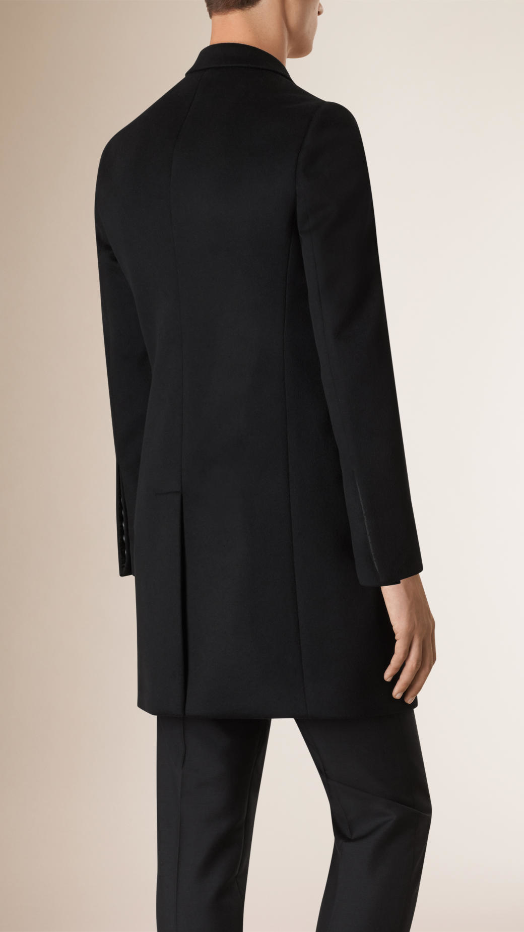 Burberry Double-breasted Unlined Cashmere Wool Coat in Black for