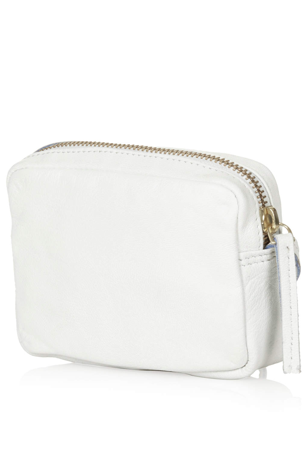 top-rated largest selection of 2019 best place for TOPSHOP Mini Twist Leather Crossbody Bag in White (Blue) - Lyst