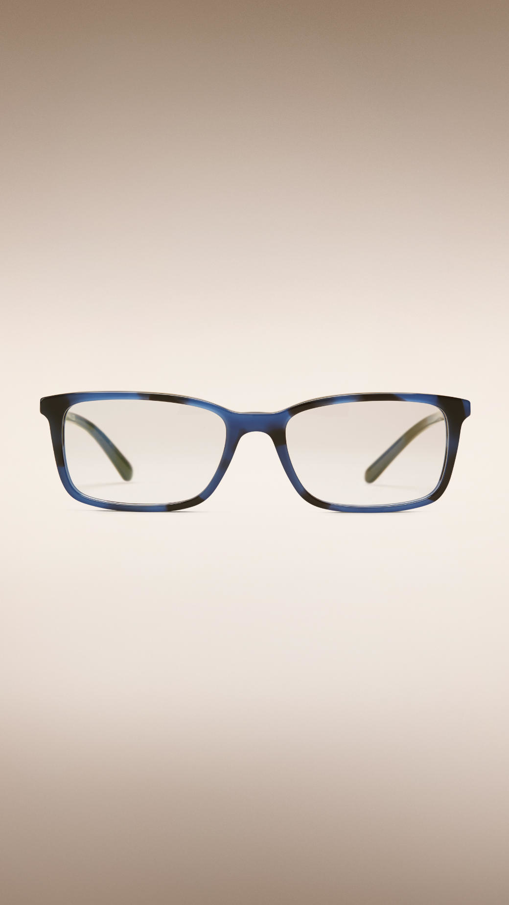 e6d585152d1f Lyst Burberry Check Detail Square Optical Frames In Blue For Men