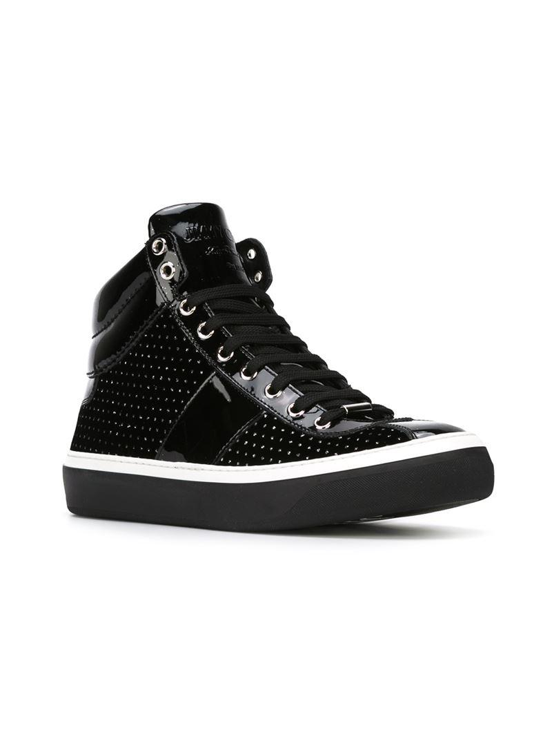decd9df813a2 Jimmy Choo  Belgravia  Hi-Top Sneakers in Black for Men - Lyst