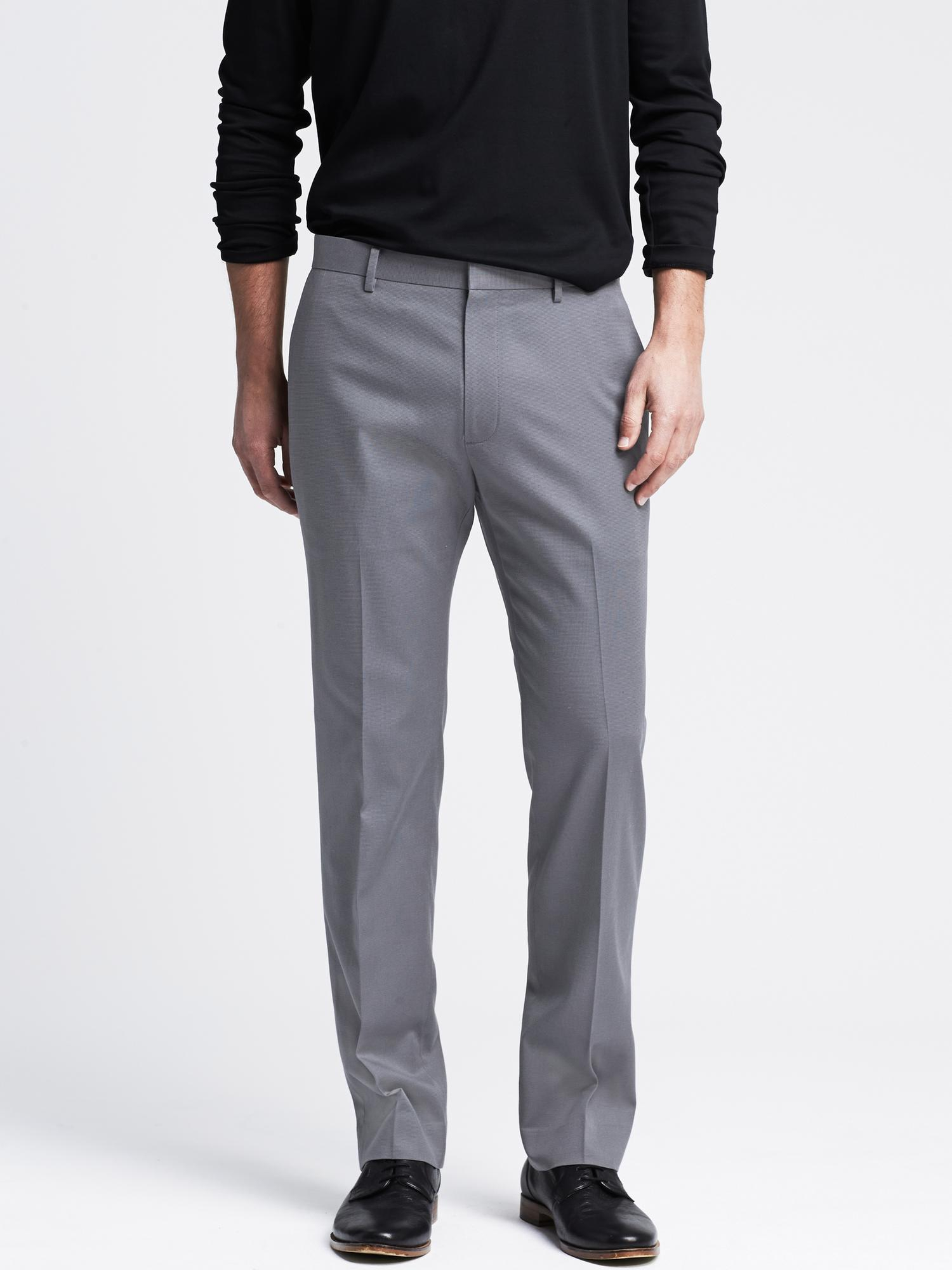 12ad498a6244 Lyst - Banana Republic Tailored Slim Non-iron Cotton Dress Pant in ...
