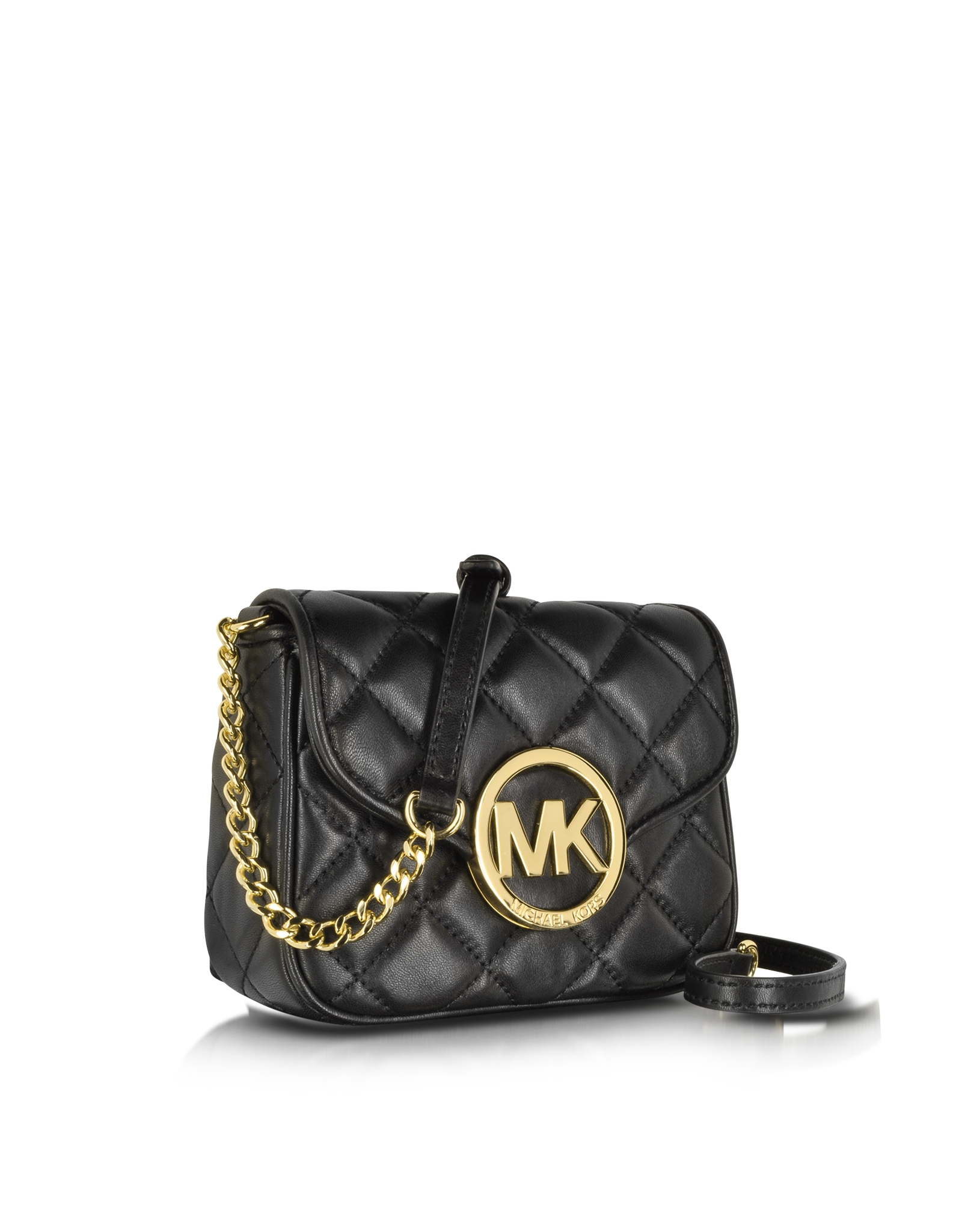 Michael Kors Small Fulton Quilted Crossbody Bag In Black