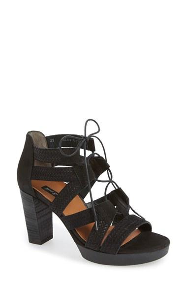 Lyst Paul Green Hana Lace Up Sandal In Black