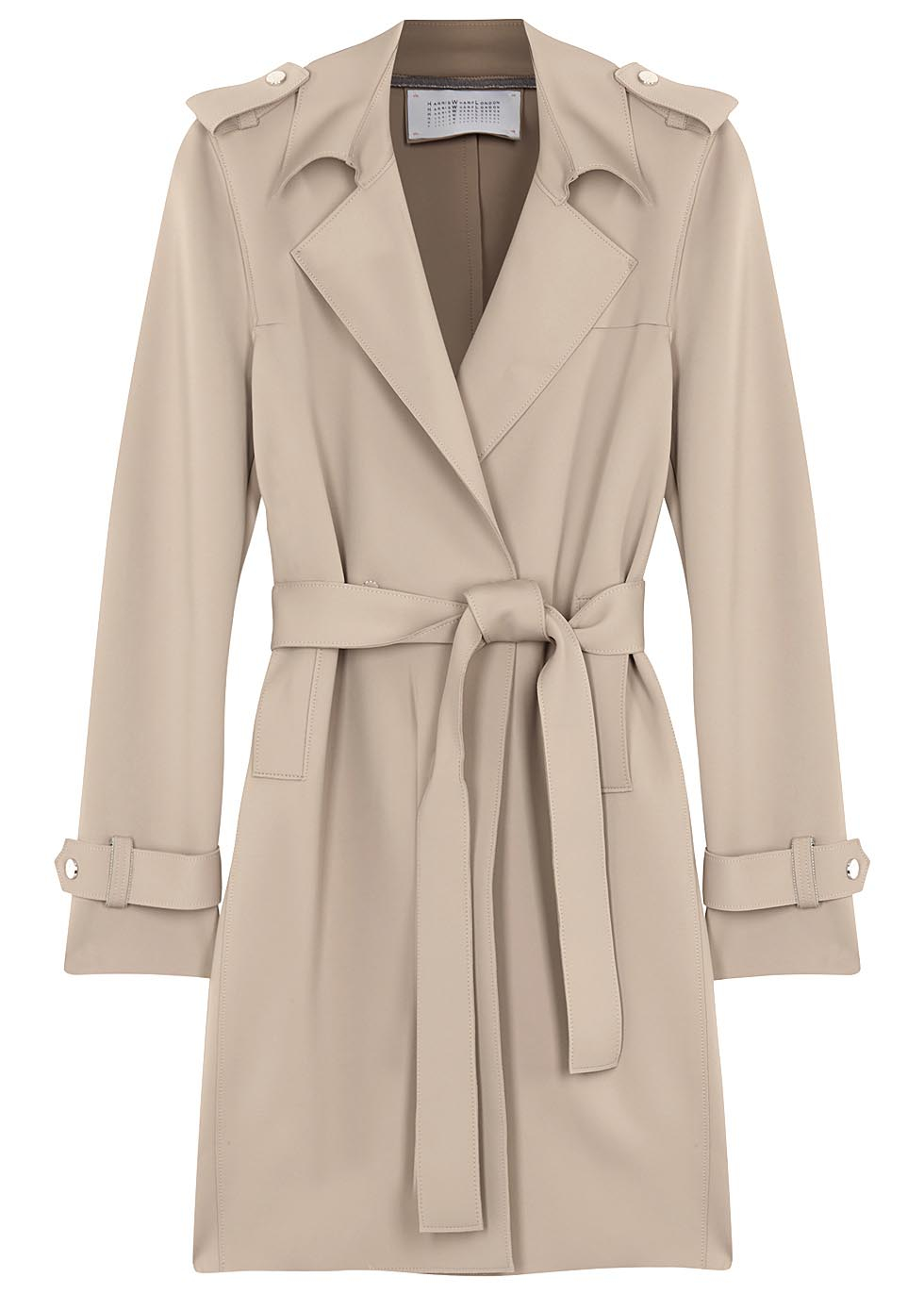 46abe29bc7495 Harris Wharf London Technic Sand Neoprene Trench Coat in Natural - Lyst