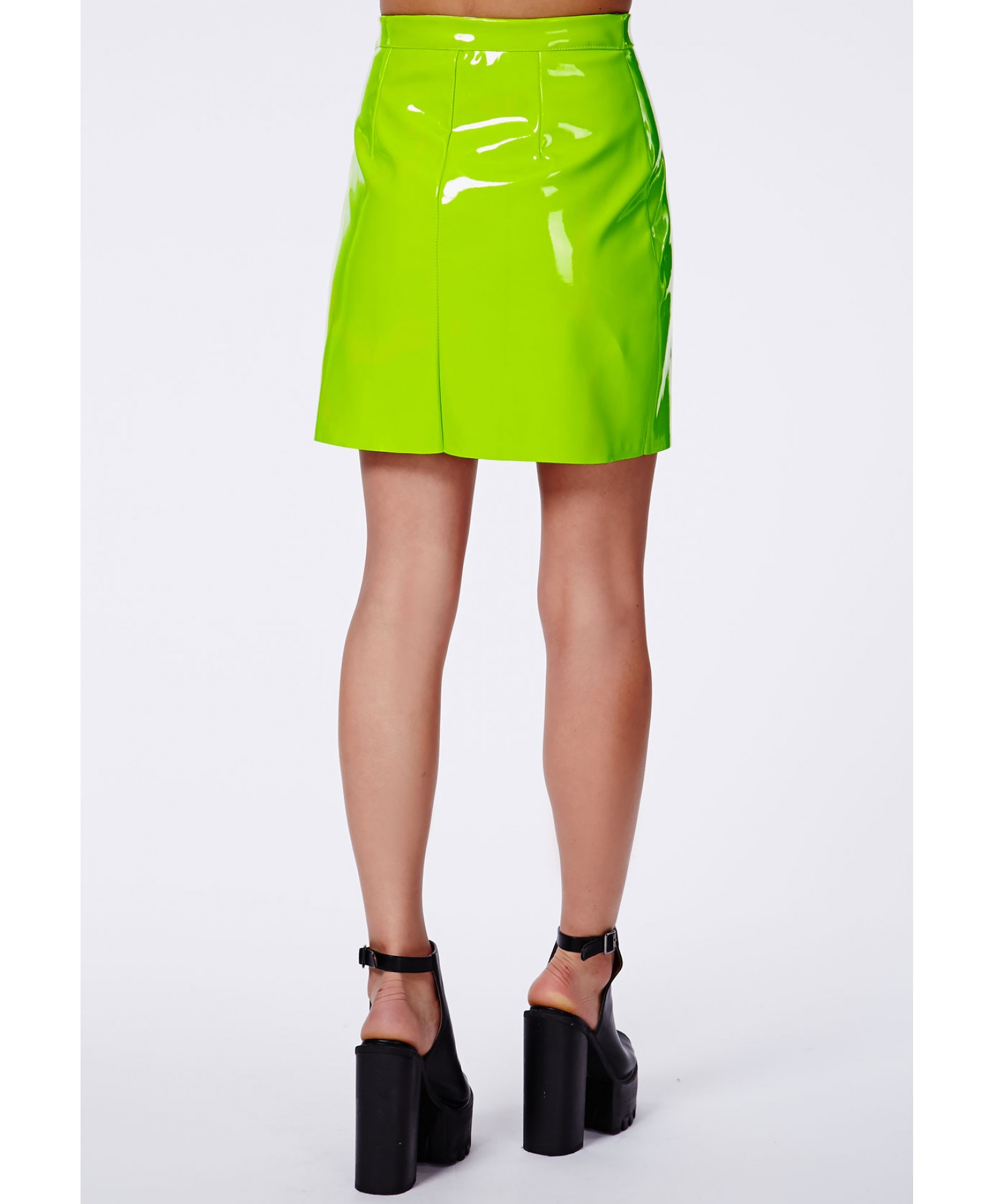 Showcase a little edge this season in this neon green PVC mini skirt. On trend and set to make a statement to any girl's wardrobe. Team with a crop top, biker jacket and sky high salestopp1se.gq: $5.