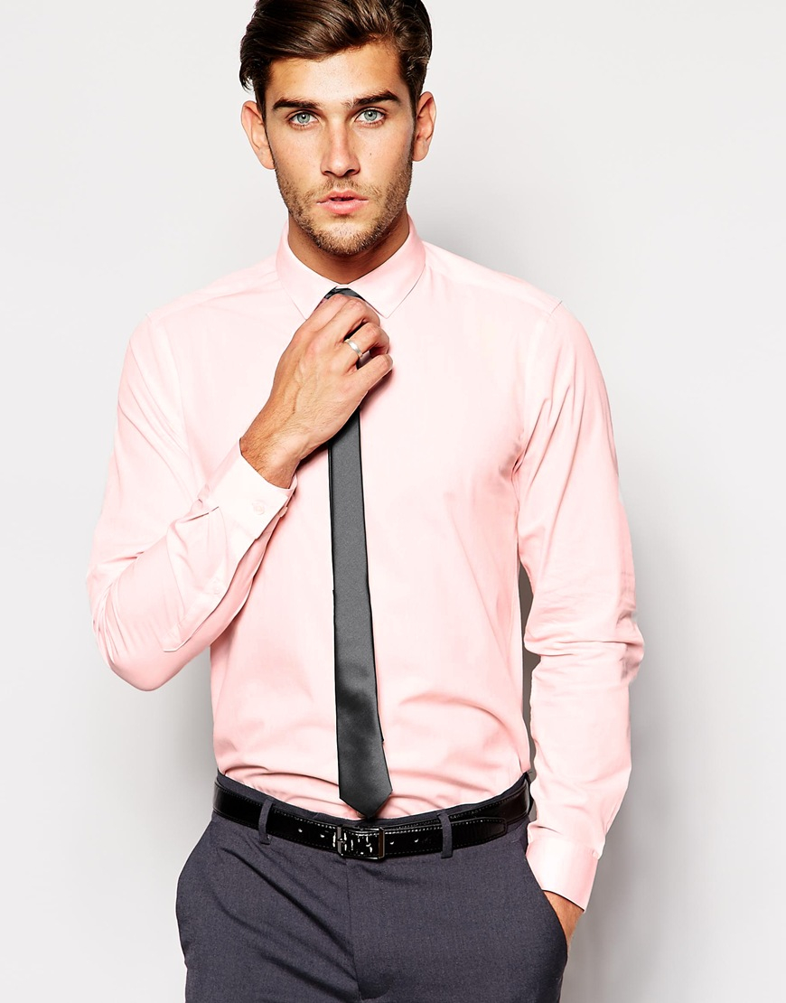 Asos Smart Shirt And Tie Set Save 22% in Pink for Men | Lyst