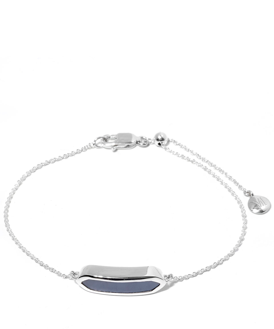 0d25a32426e55 Monica Vinader Mini Silver Hematite Baja Bracelet in Metallic - Lyst