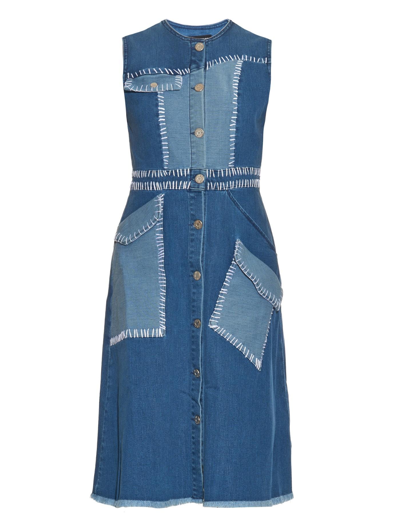 House Of Holland Sleeveless Denim Dress In Blue Lyst
