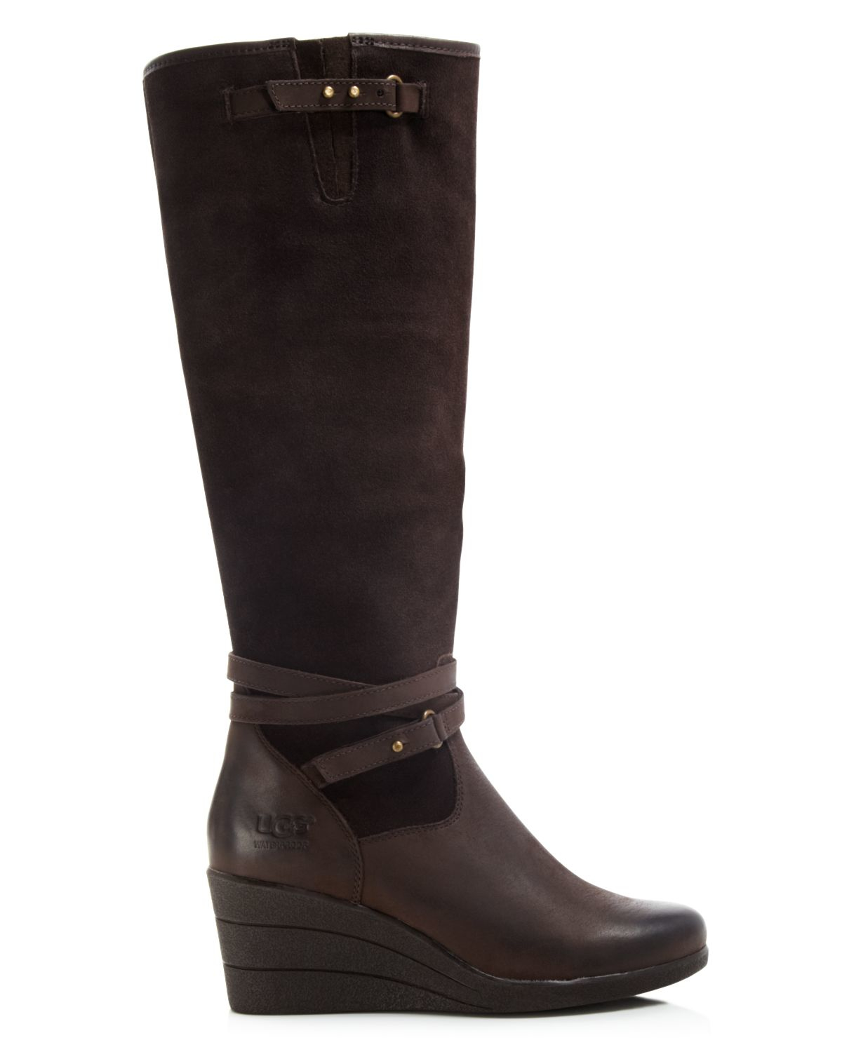 Lyst Ugg Ugg 174 Australia Tall Wedge Boots Lesley In Brown