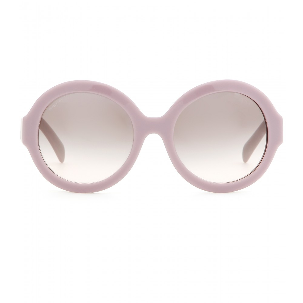 a518625b9d3b ... coupon code for lyst prada round sunglasses in purple 74583 fb63d