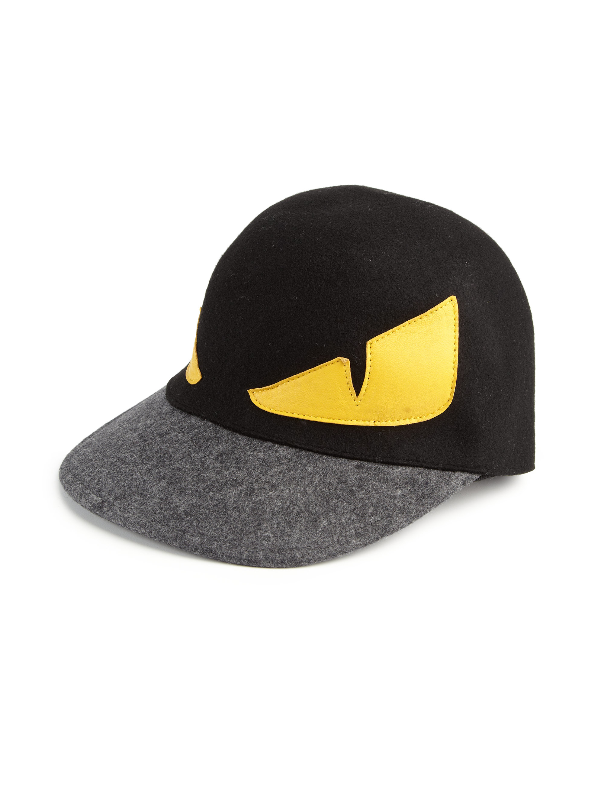 Fendi Monster Wool Baseball Cap In Black For Men Lyst