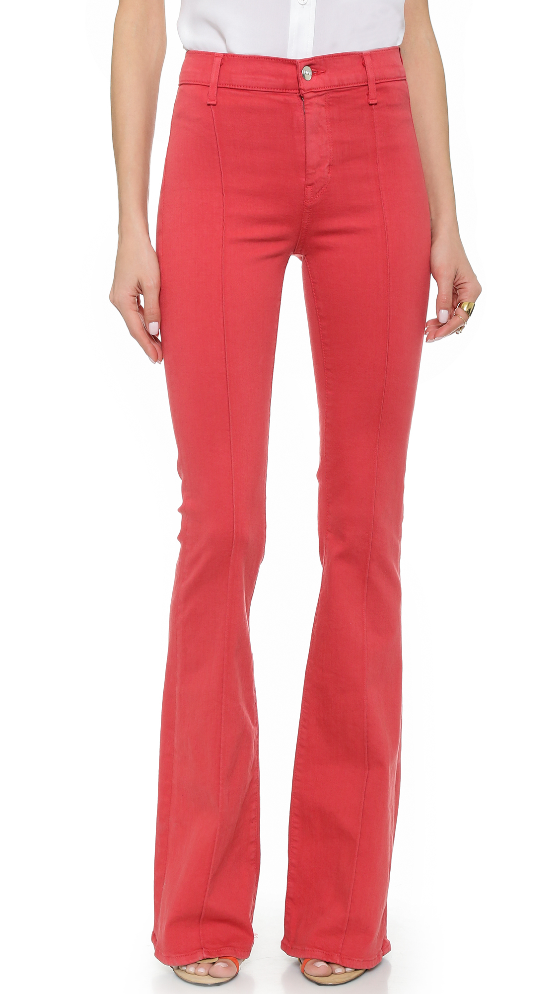 Koral High Rise Flare Jeans - Baked Apple in Pink | Lyst