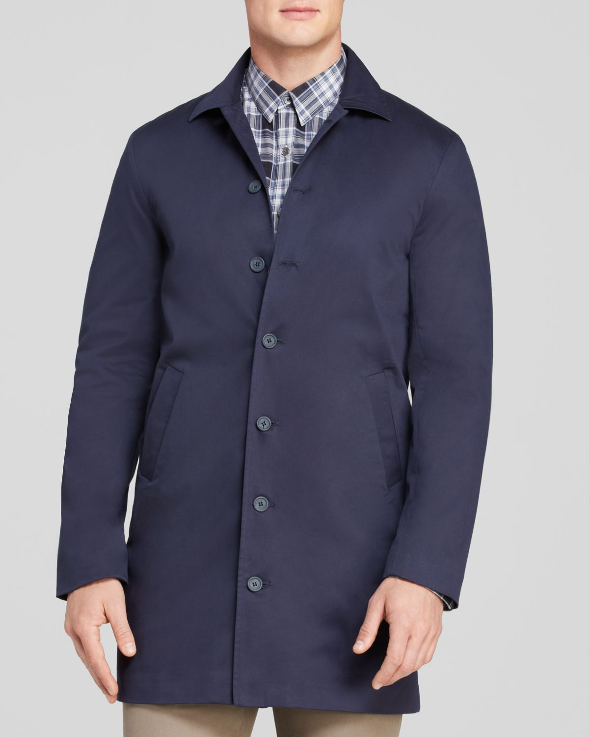 sale online highly praised low priced Lucio Castro Blue Mac Jacket for men