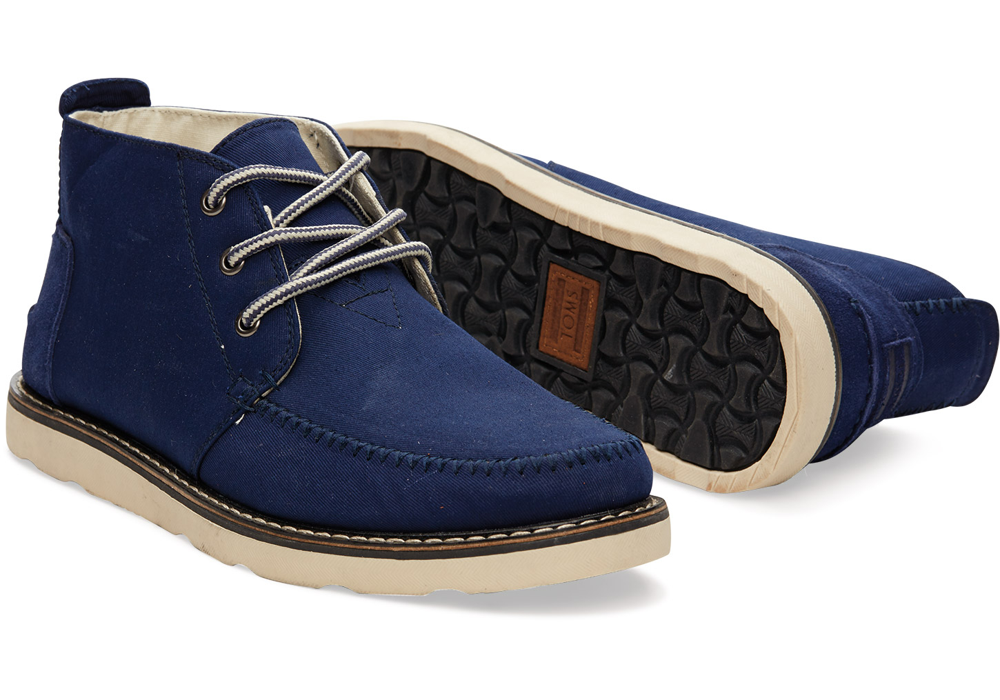 Toms Eclipse Cotton Twill Men's Chukka Boots in Blue for Men | Lyst