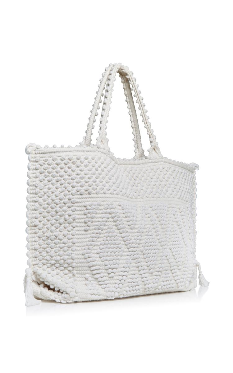 Antonello Cappricioli Rombi Large Beach Bag in White | Lyst