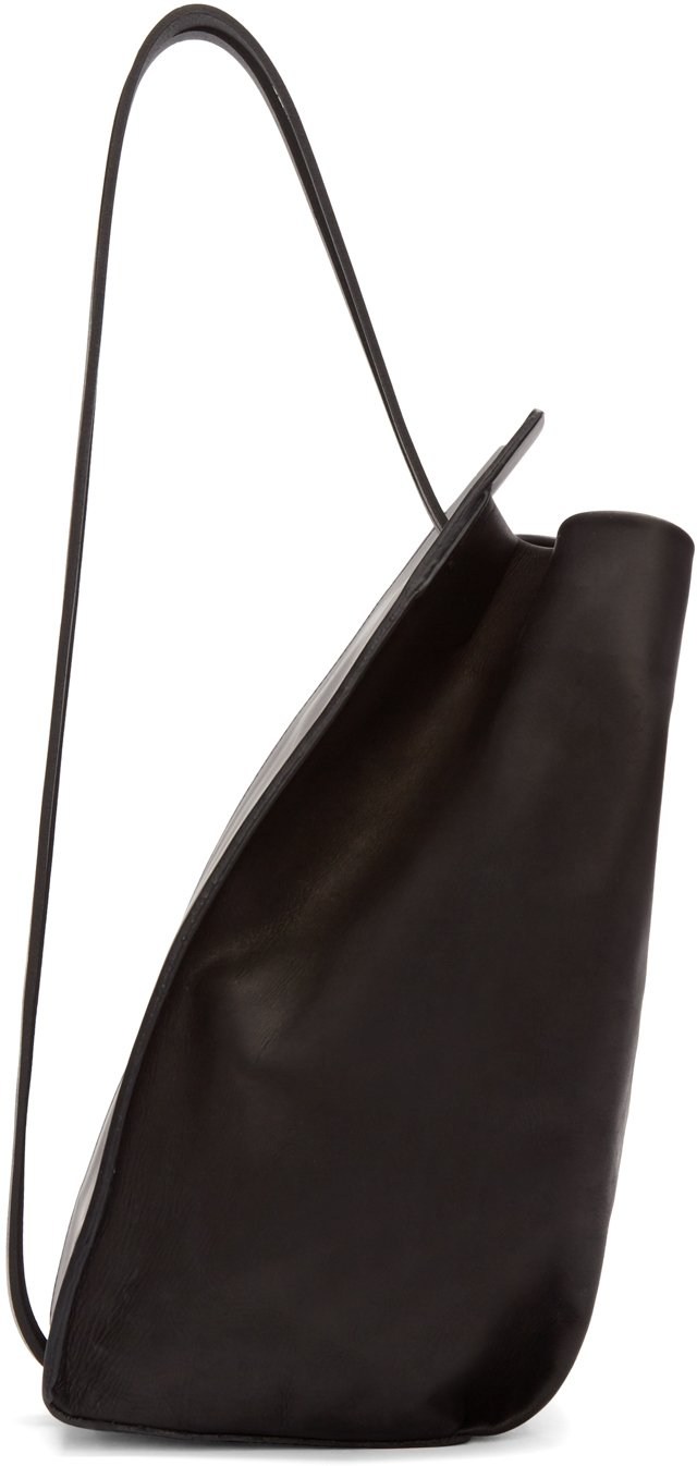 Unique Women_WomenBags_Sling Bags_Black Leather Sling Bag