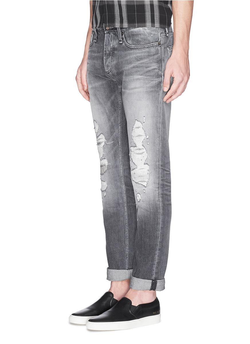 Gray Skinny Jeans For Men