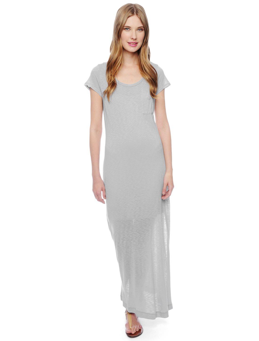 Splendid u neck maxi dress embellished