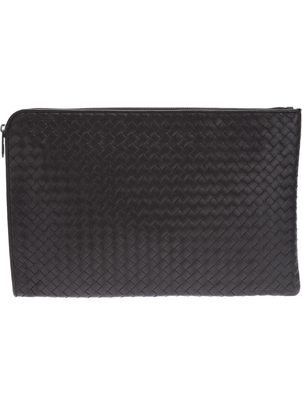 f7f6b7d5d7c5 Lyst - Bottega Veneta Woven Laptop Case in Brown for Men