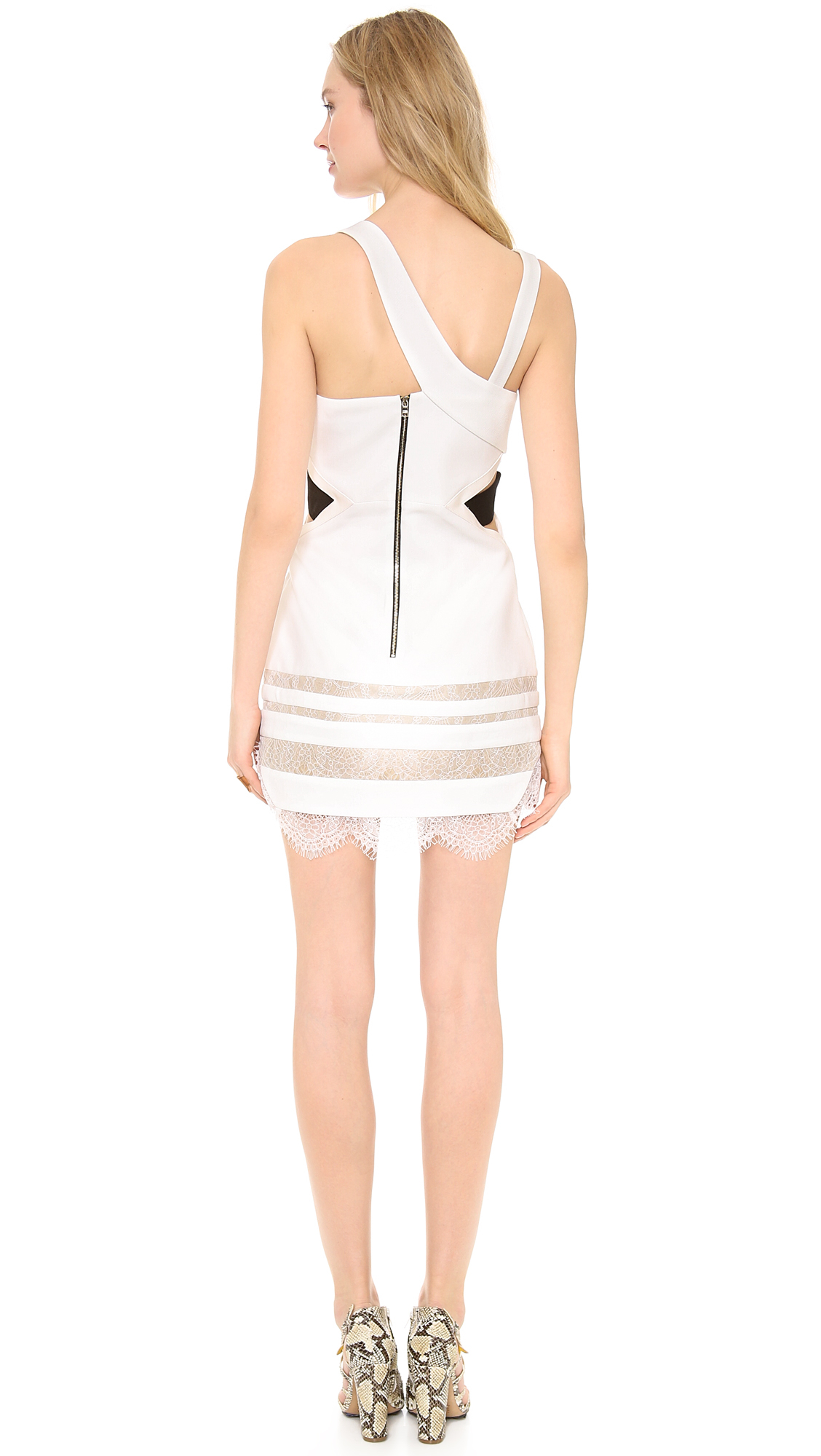 Three floor white isle dress white black in white lyst for Three floor yellow dress