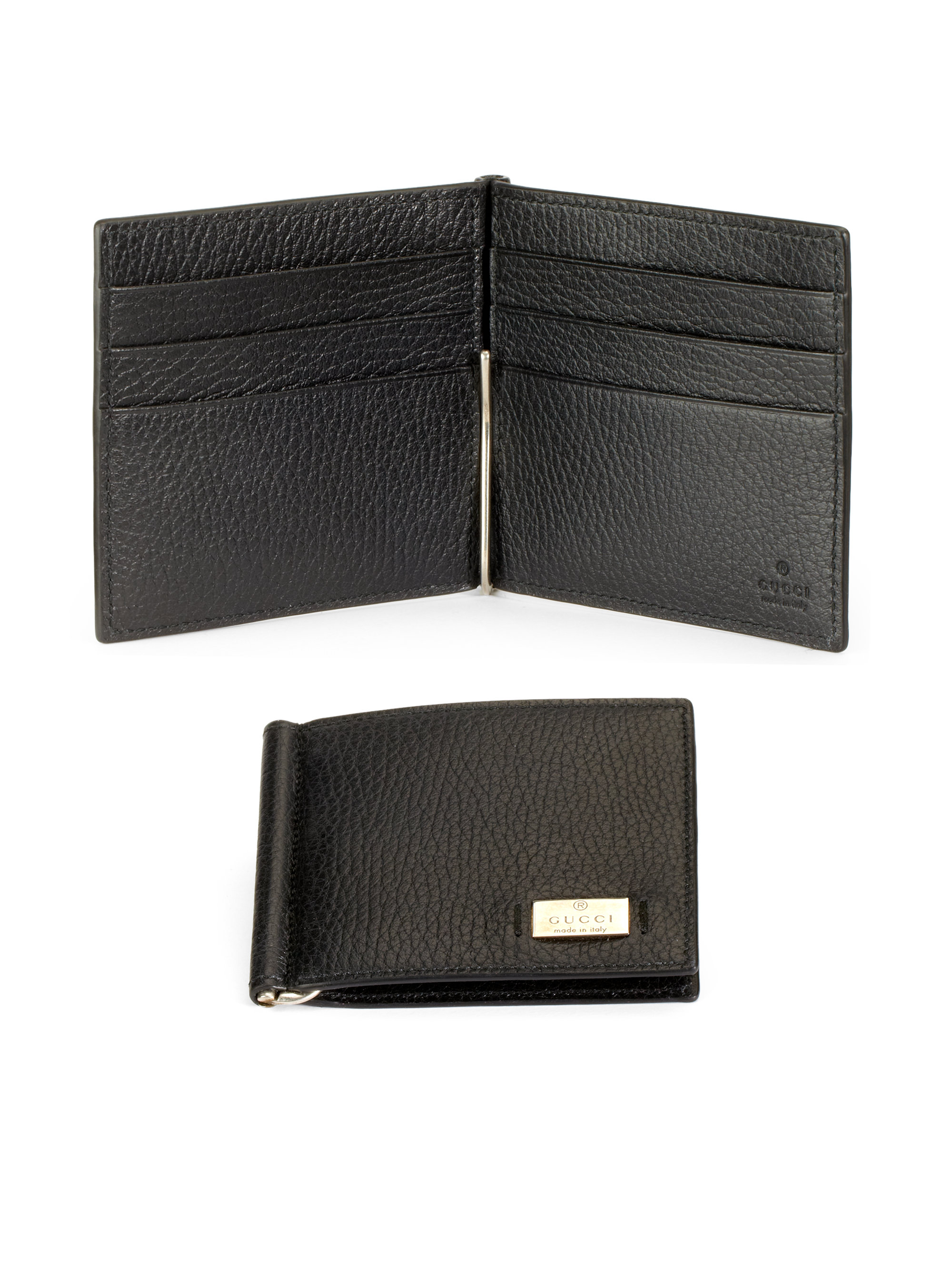 400fff58d95f Gucci Leather Money Clip Wallet in Black for Men - Lyst