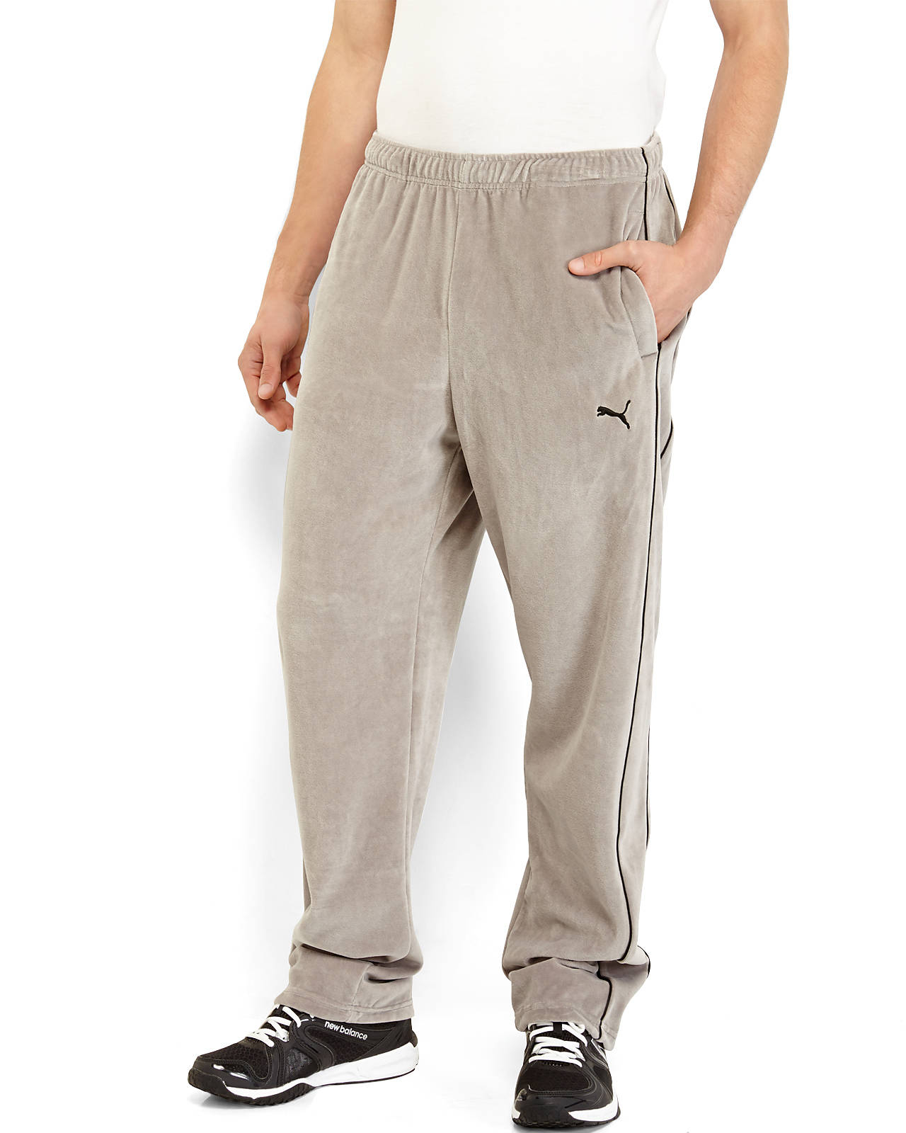 Lyst Puma Grey Velour Pants In Gray For Men