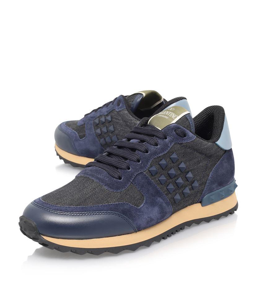 Valentino Rockrunner Denim Sneakers discounts online store cheap online buy cheap footlocker 9KMpODURT
