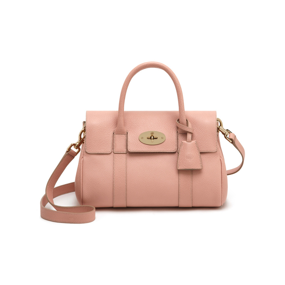 Lyst mulberry small bayswater satchel in pink for The bayswater