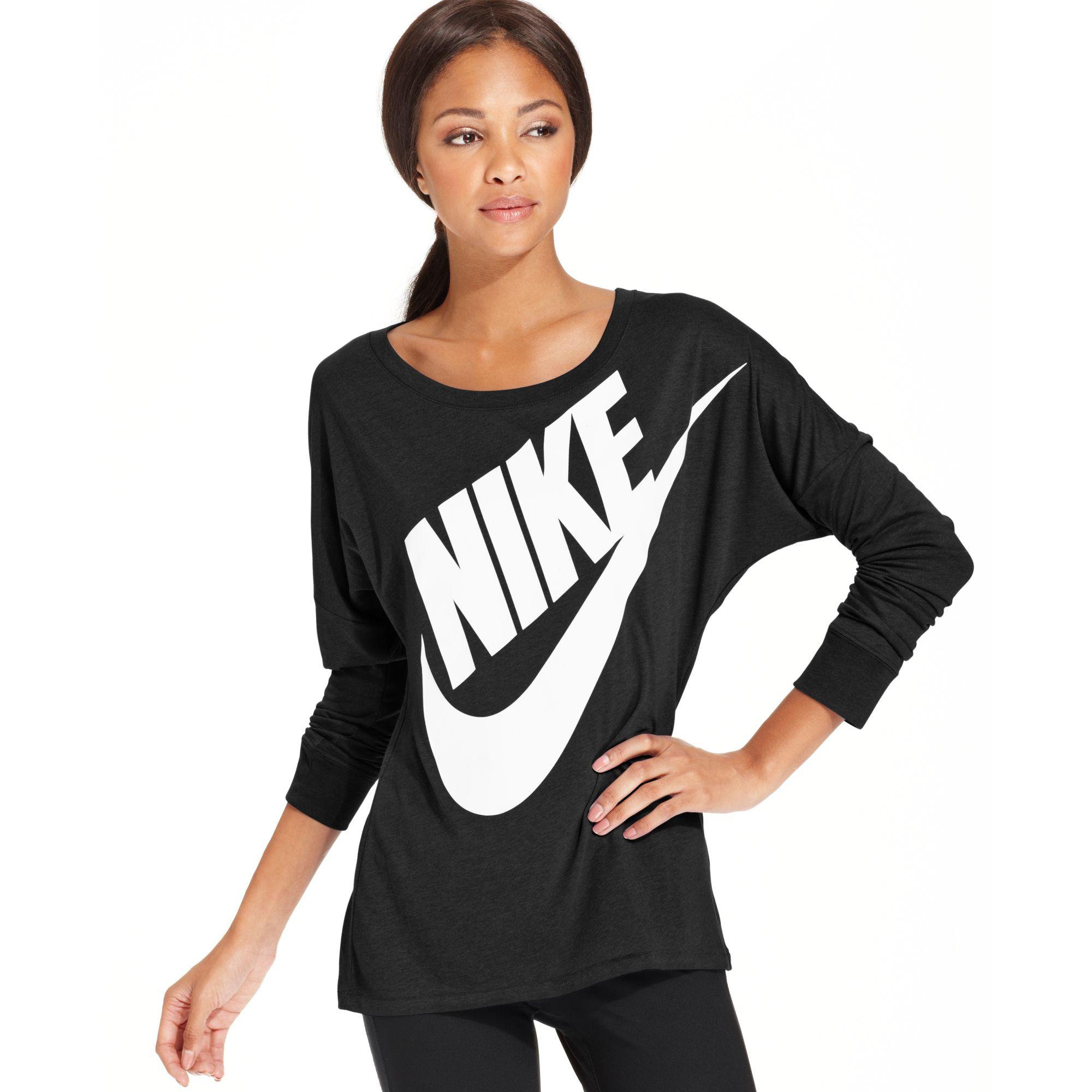 e263bdd1a8ca Lyst - Nike Freestyler Longsleeve Logo Highlow in Black  Nike Womens Power  Longsleeve Top ...
