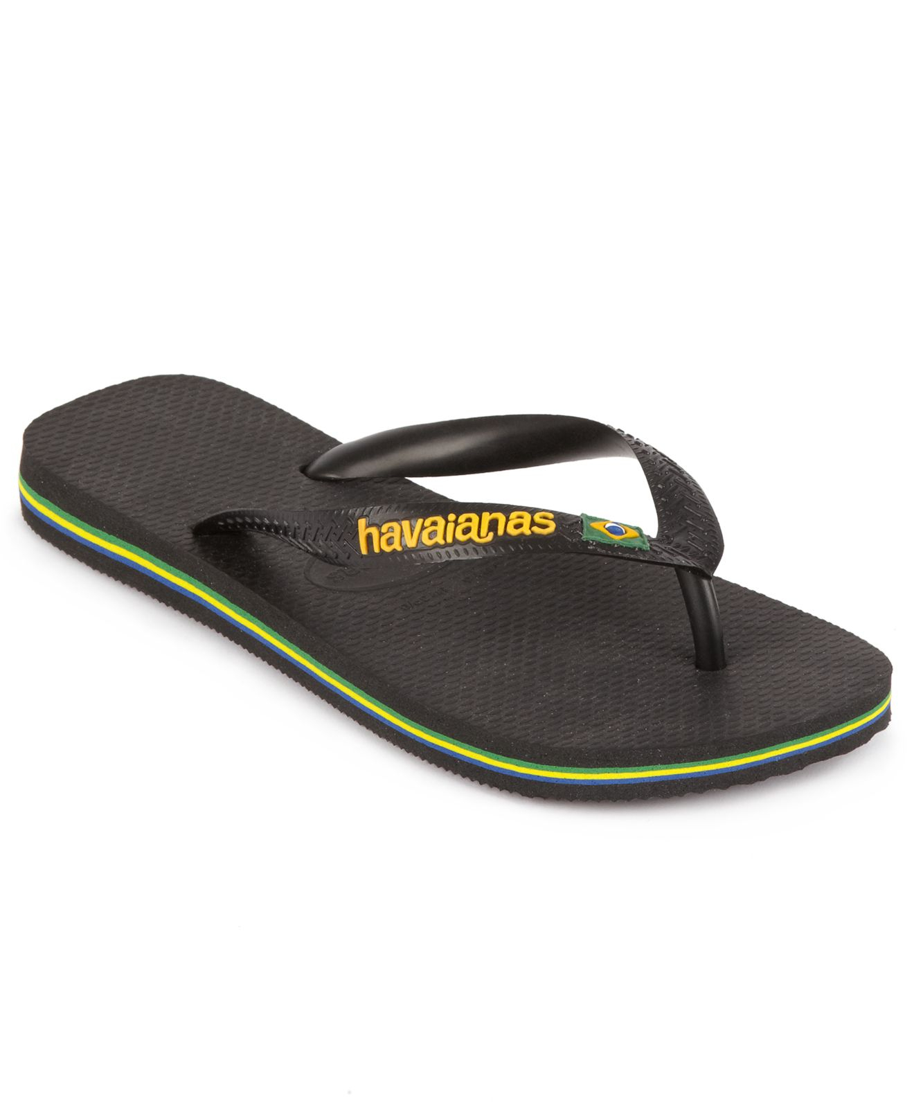 44a2c9aa700d Lyst - Havaianas Brazil Logo Flip Flop Sandals in Black for Men