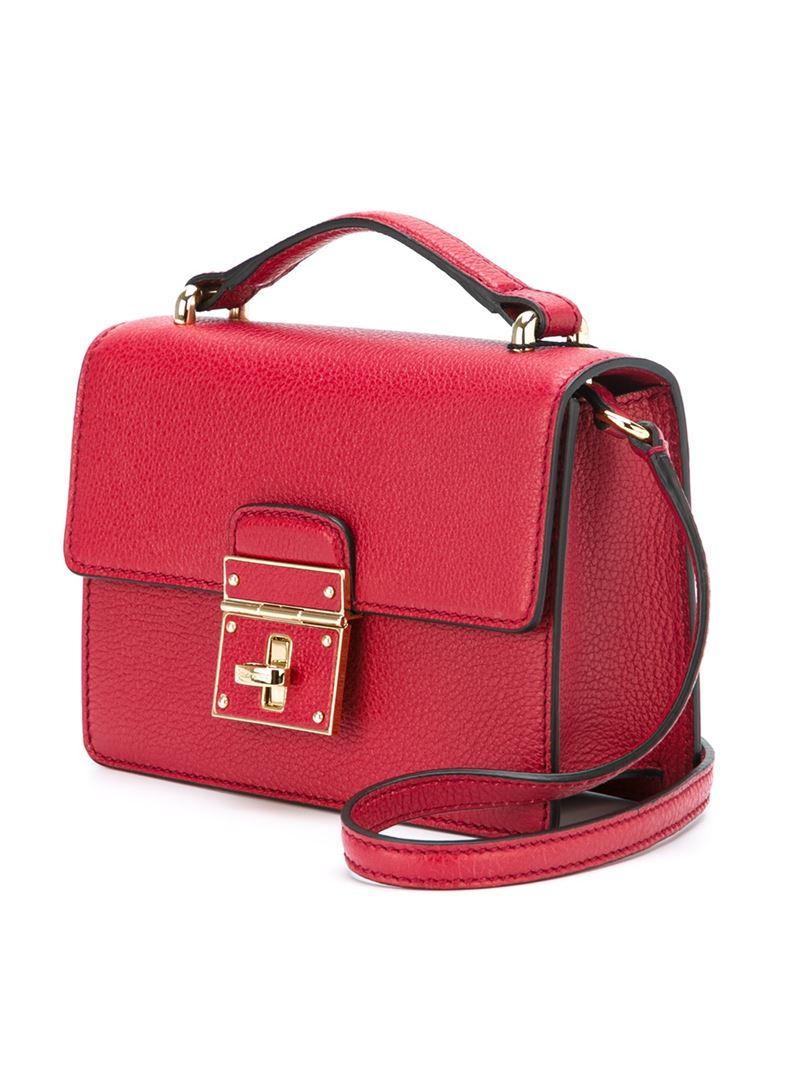 7a09461c5439 Lyst - Dolce   Gabbana  Rosalia  Crossbody Bag in Red