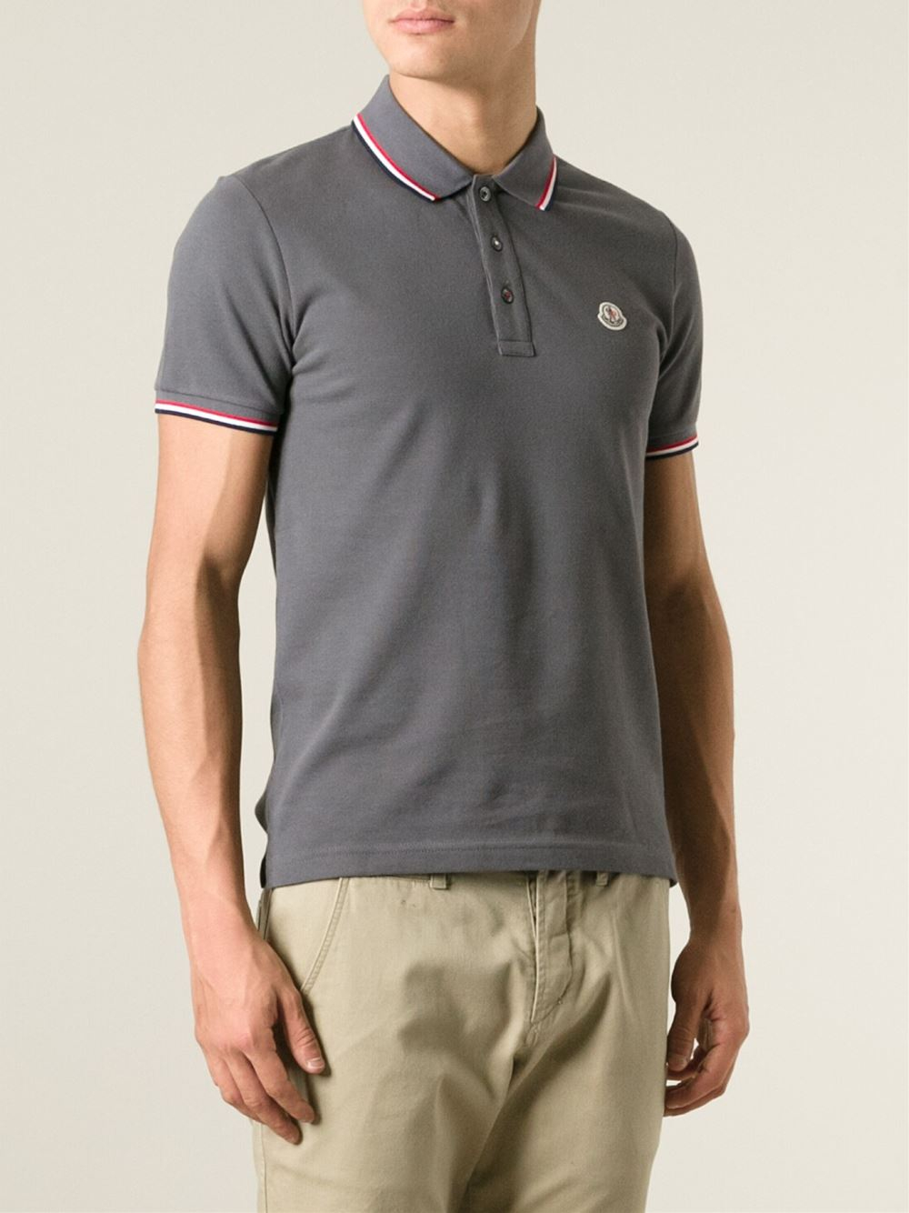 moncler polo top grey