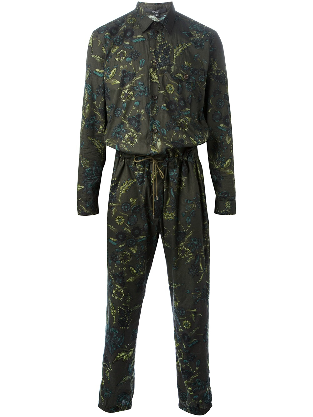 Lyst Gucci Plants Print Jumpsuit In Green For Men