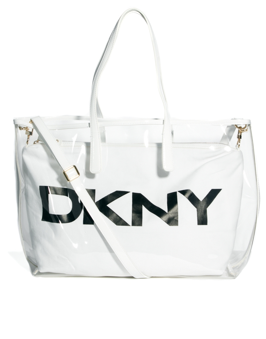Dkny active Beach Tote Bag in White | Lyst