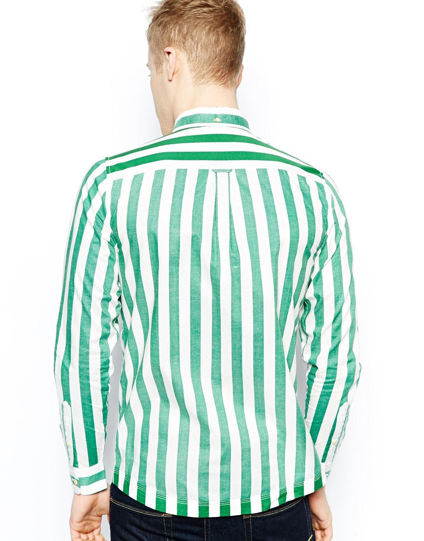 Lyst - Fred perry Southsea Deck Chairs Striped Shirt in White for Men