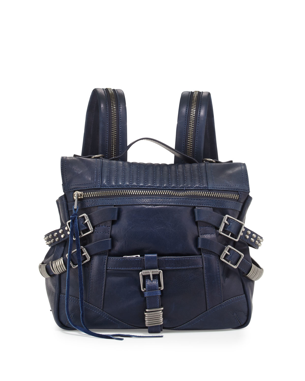 Lyst - Ash Trix Leather Buckle Backpack in Blue