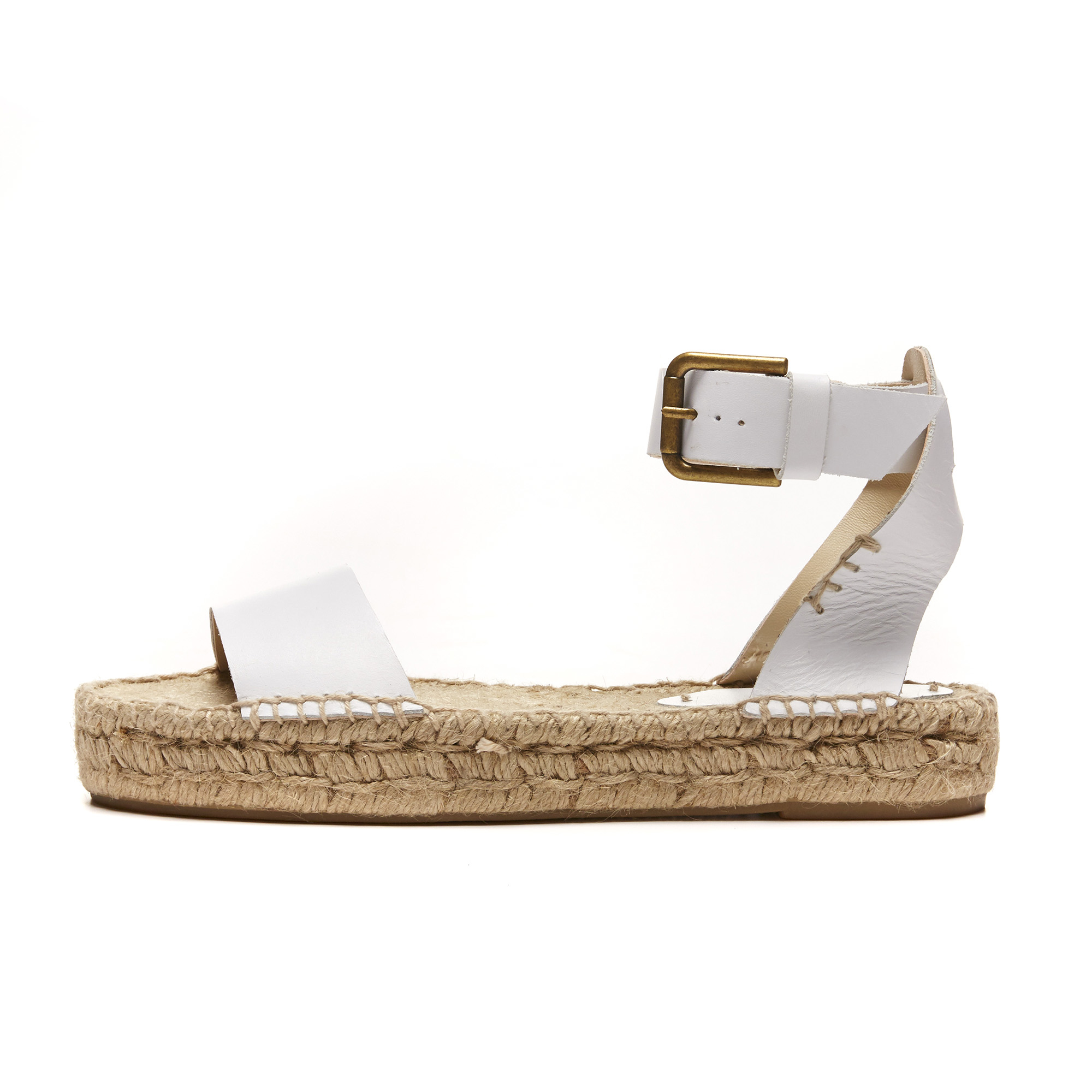 8d0115c1b5eb Lyst - Soludos Leather Platform Open Toe Sandal in White
