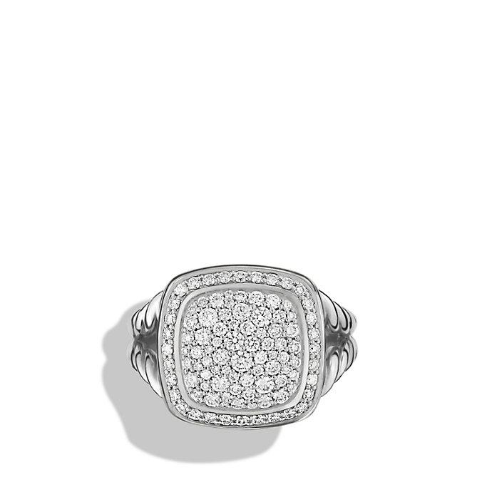 David yurman Ring With Diamonds in Silver | Lyst