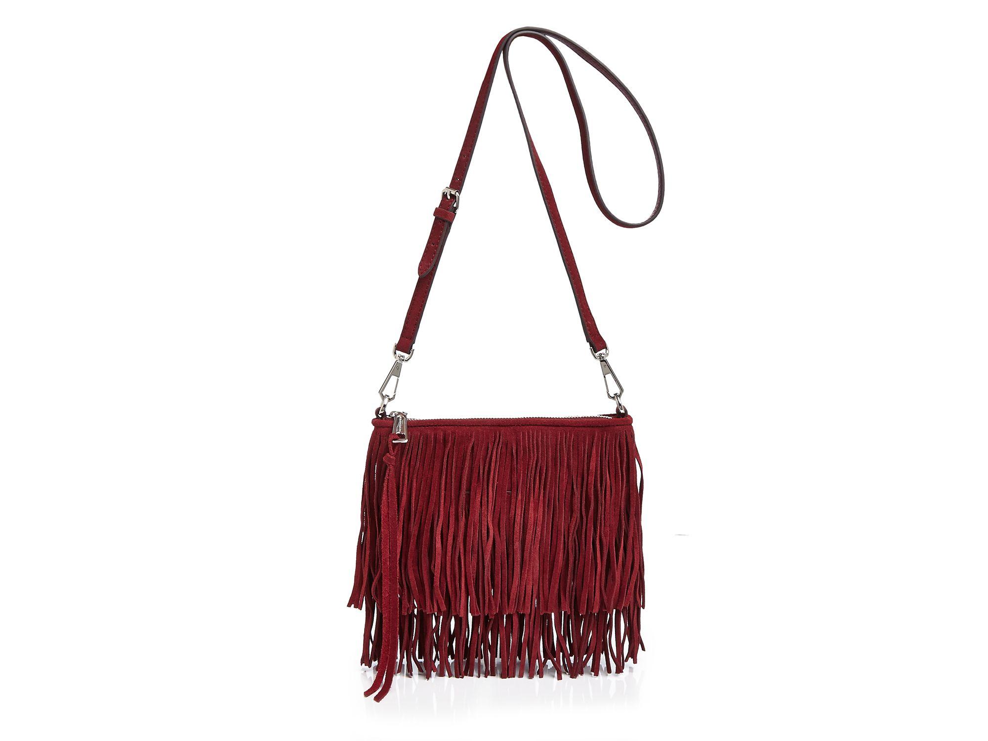 f59ab78bbef4 Rebecca Minkoff Finn Suede Fringe Crossbody Bag