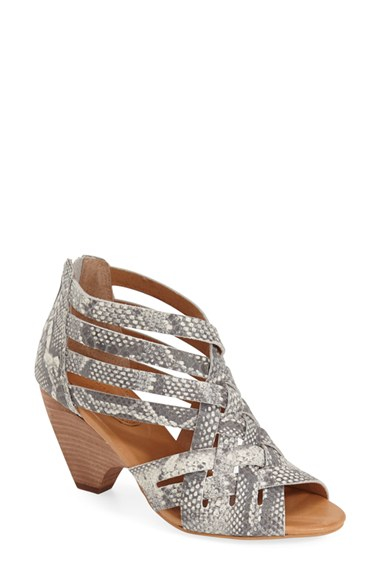 1af20b976e96bf Lyst - Corso Como Genni Woven Snake-Print Sandals in Gray