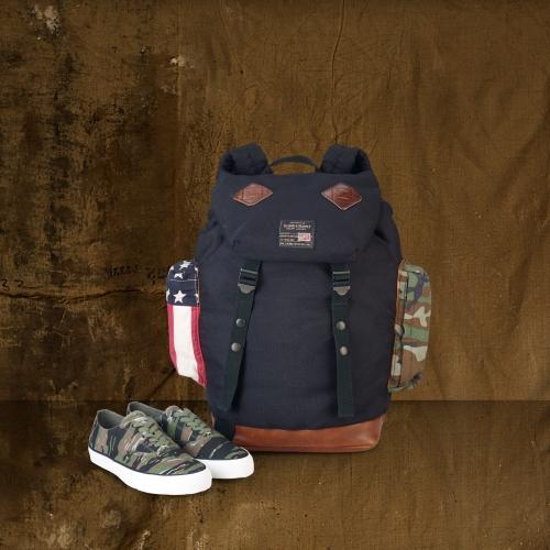 Lyst - Denim   Supply Ralph Lauren Camo Flag Backpack in Blue for Men 43f49a5e9c205