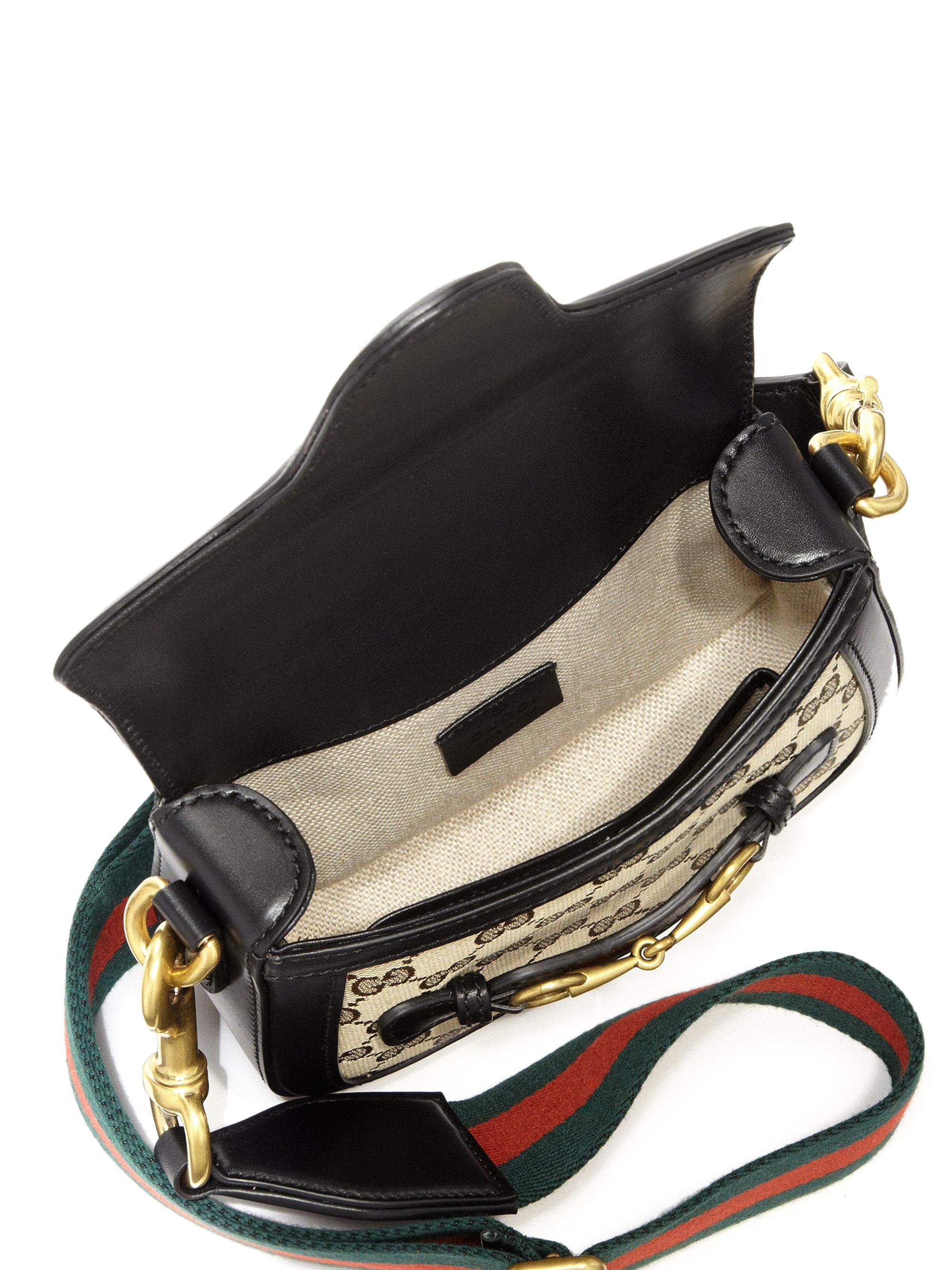 d70d84e70a5 Lyst Gucci Lady Web Small Gg Supreme Canvas Shoulder Bag In Natural