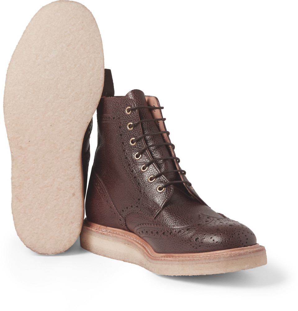 Mark Mcnairy New Amsterdam Crepe Sole Leather Brogue Boots