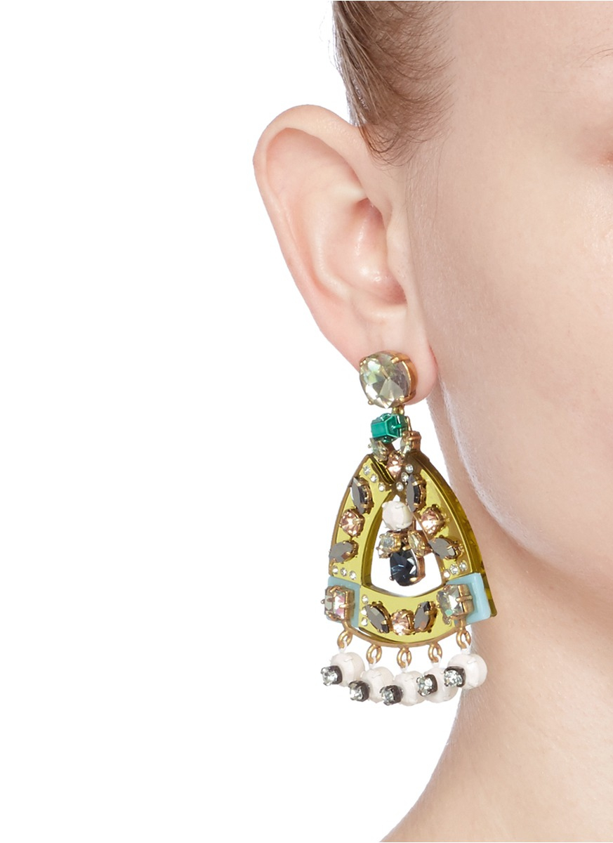 J crew pave earrings