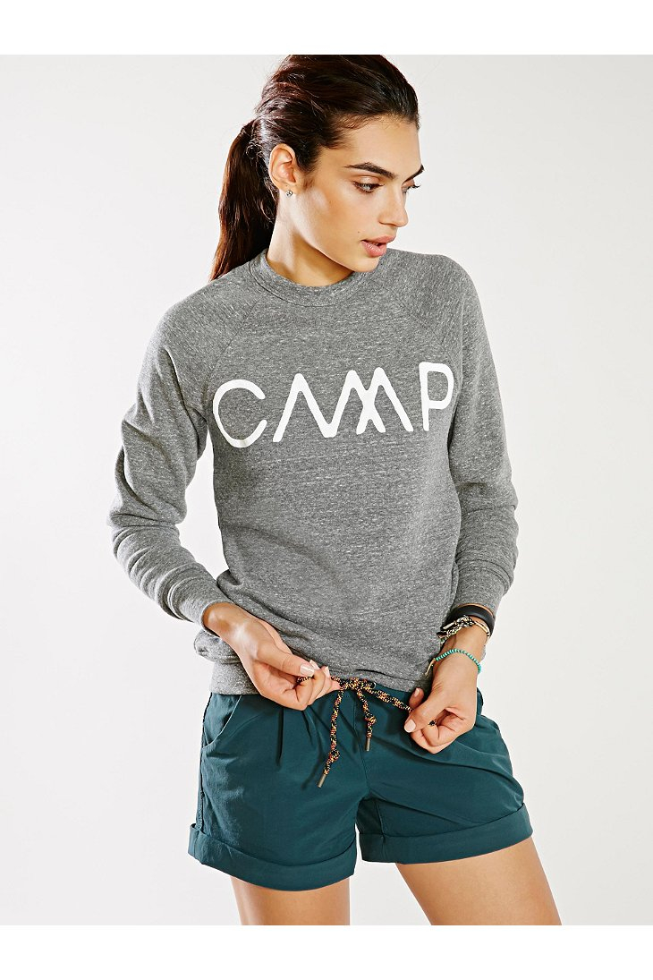 Camp Brand Goods Camp Sweatshirt In Gray Lyst