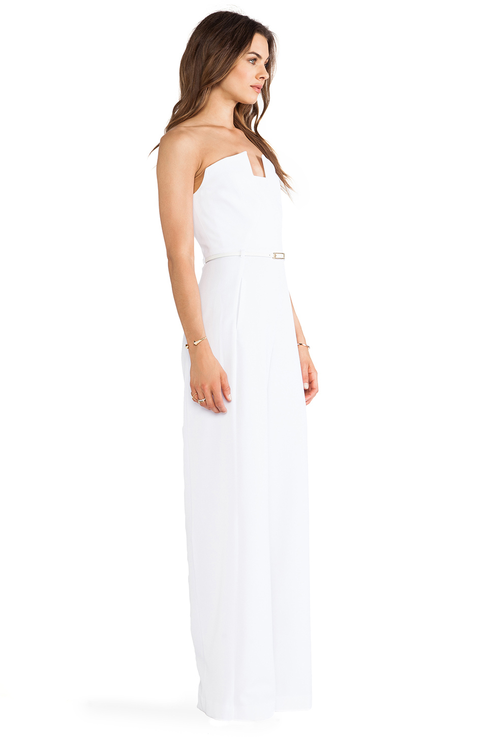 5aeb9243725 Lyst - Black Halo X Revolve Lena Jumpsuit in White