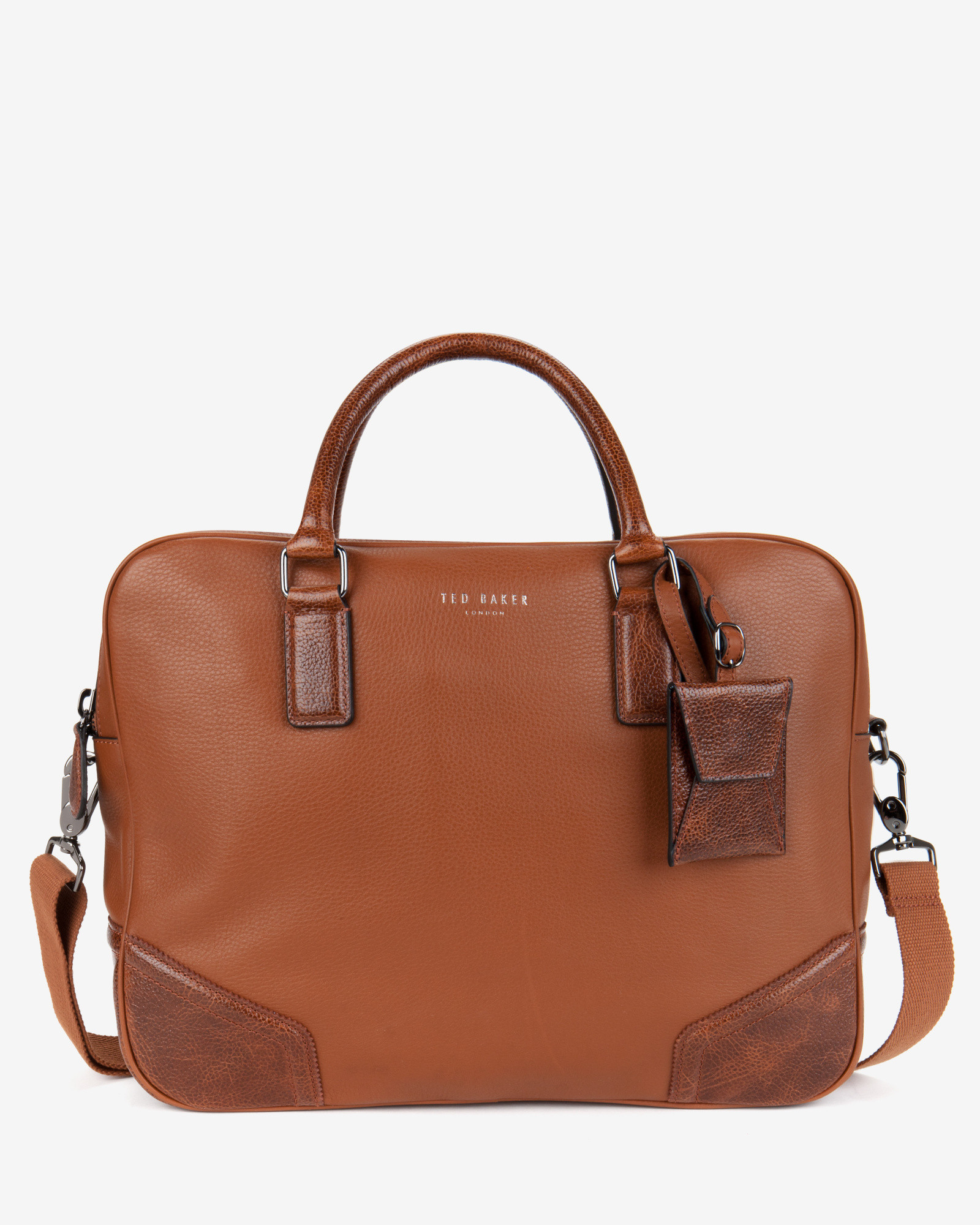 lyst ted baker leather document bag in brown for men With ted baker leather document bag