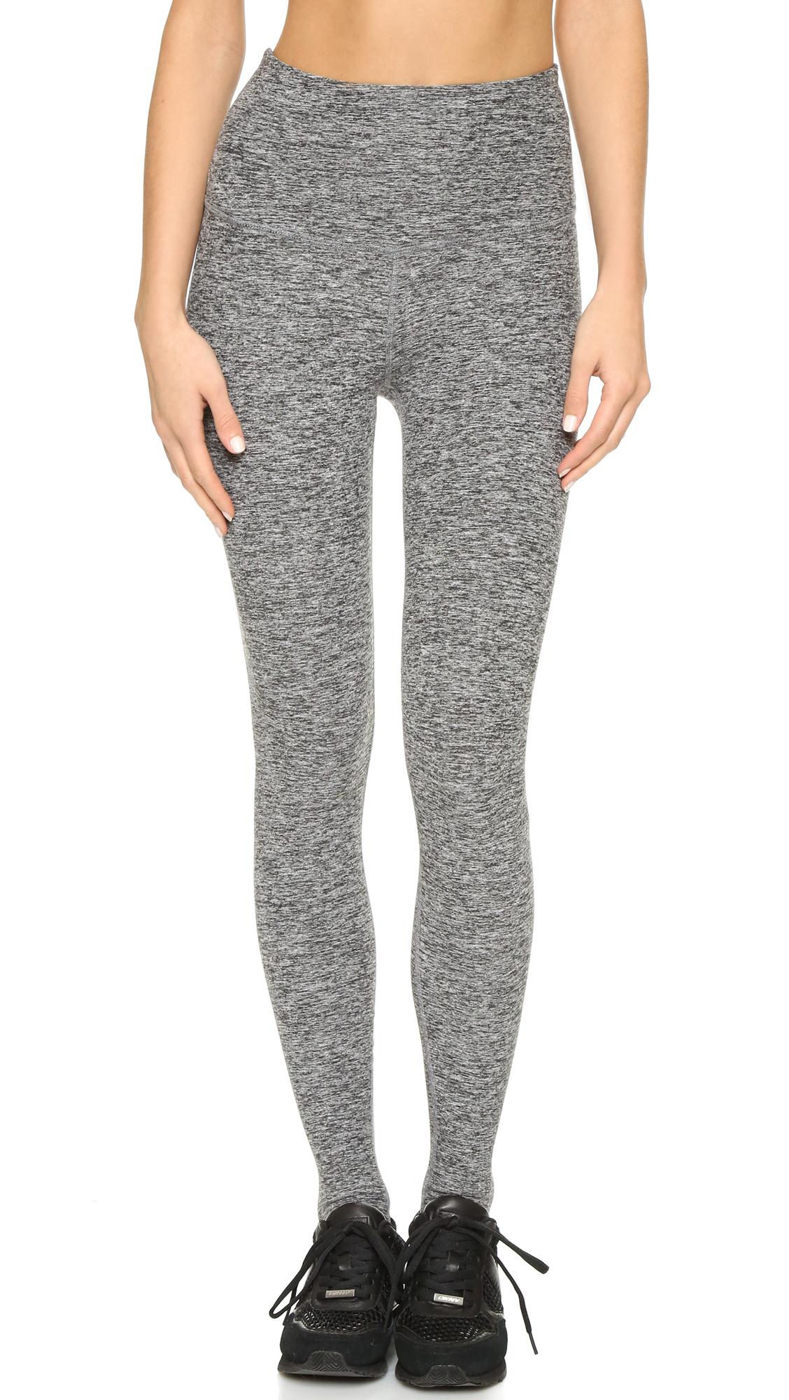 fc2eab33a6210 Beyond Yoga High Waist Stirrup Leggings in Black - Lyst