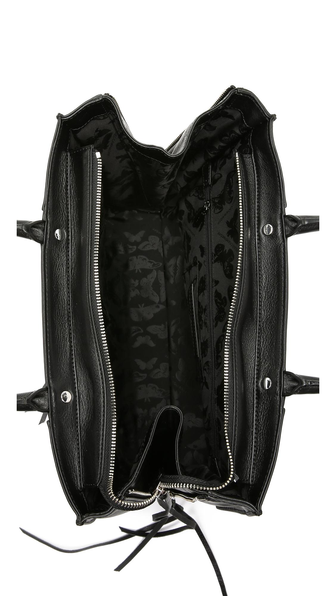 Lyst Rebecca Minkoff Medium Mab Tote With Zipper In Black